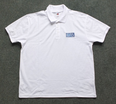ICRS polo shirt (white)